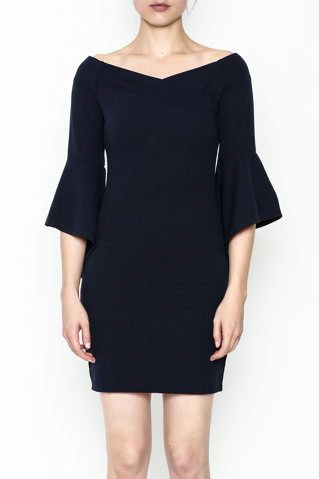 Ina Off Shoulder Statement Dress - Front Full Image