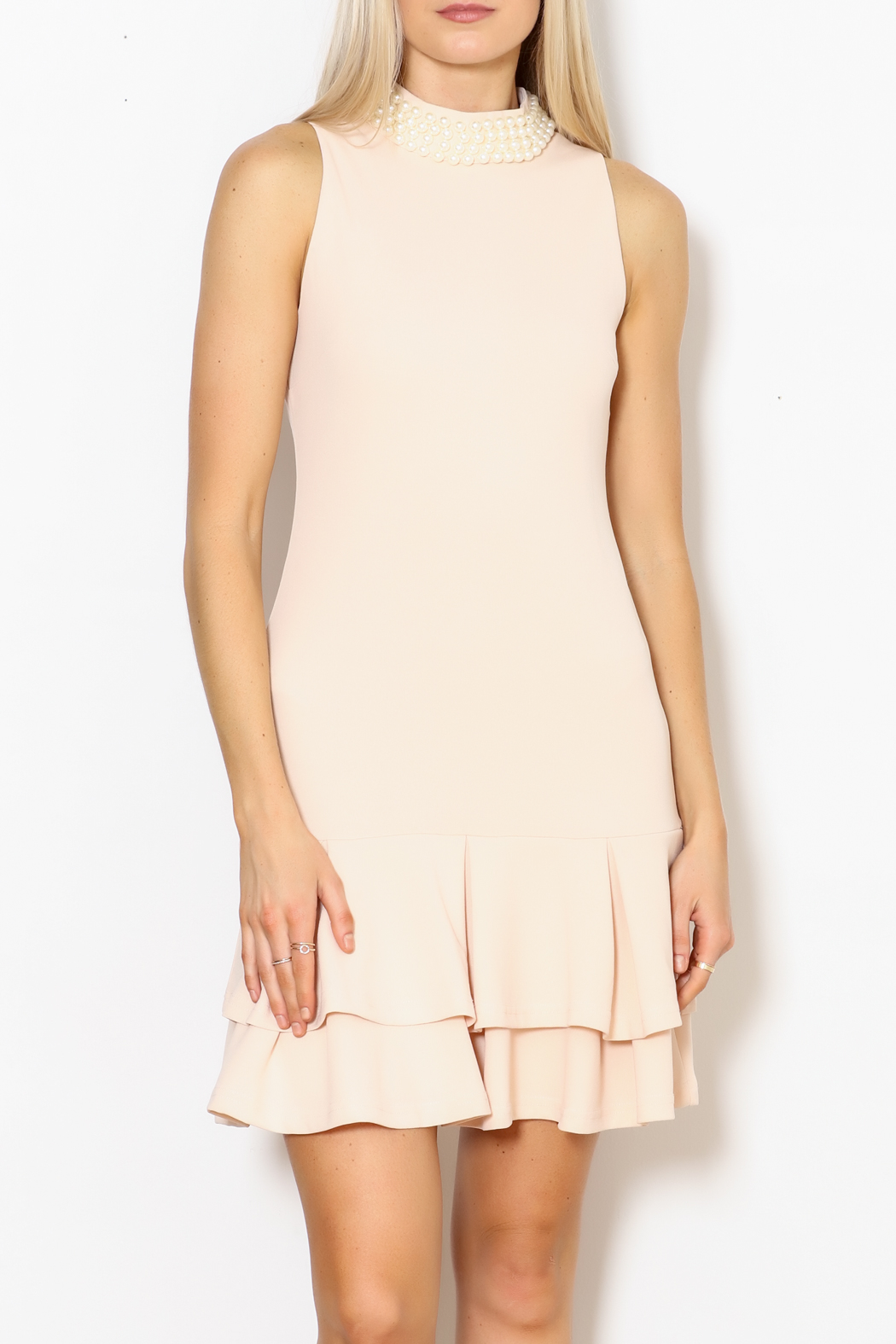 Ina Pearl Collar Dress - Front Full Image