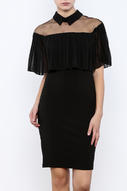 Ina Pleated Overlay Bodycon Dress - Product Mini Image