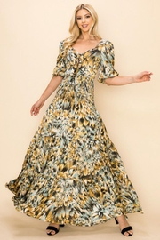 Ina Printed Tie-Front Dress - Product Mini Image