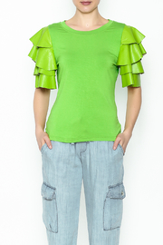 Ina Ruffle Sleeve Tee - Front cropped