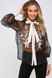 Ina Sheer Bow Blouse - Product Mini Image