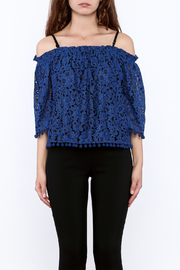 Ina Royal Blue Lace Top - Side cropped