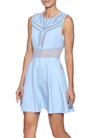 Ina Sky Blue Tea Dress - Front cropped