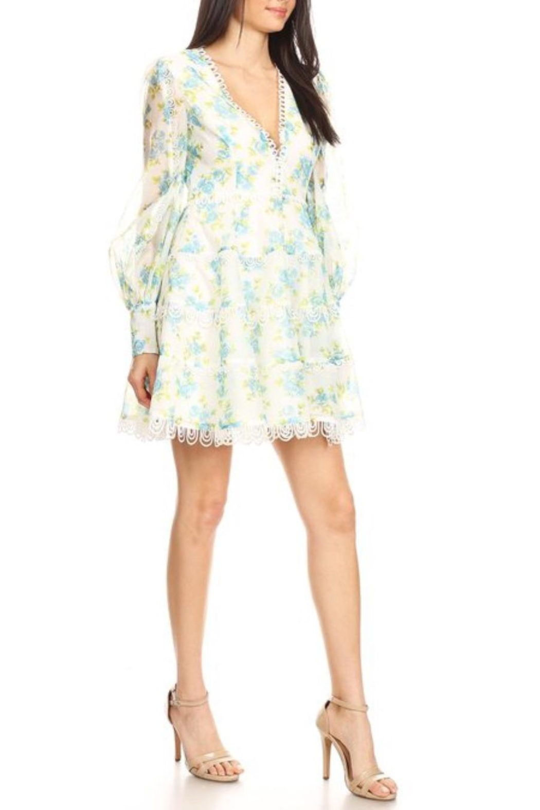 Ina Spring Floral Minidress - Side Cropped Image
