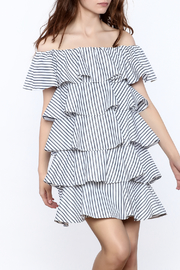 Ina Stripe Print Flutter Dress - Product Mini Image