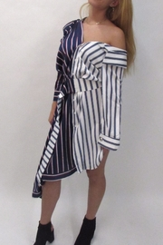 Ina Striped Asymmetrical Dress - Product Mini Image