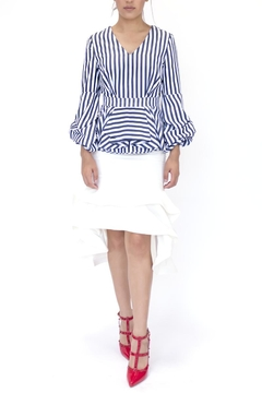 Ina Striped Peplum Top - Product List Image