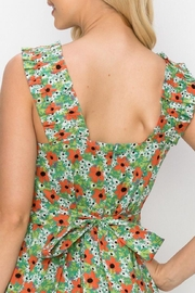 Ina Tie-Back Floral Dress - Front full body