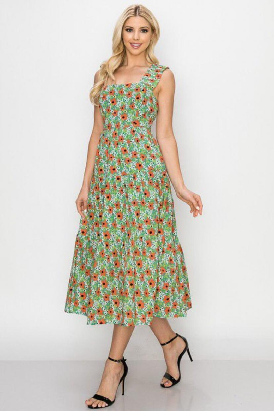Ina Tie-Back Floral Dress - Main Image