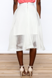 Ina White Mesh Skirt - Back cropped