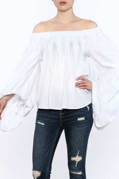 Shoptiques Product: White Off Shoulder Top
