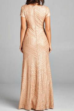 Inance Gold Sequined Gown - Alternate List Image