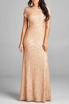 Inance Gold Sequined Gown - Product List Image