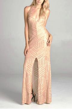 Shoptiques Product: Gold Sequence Dress