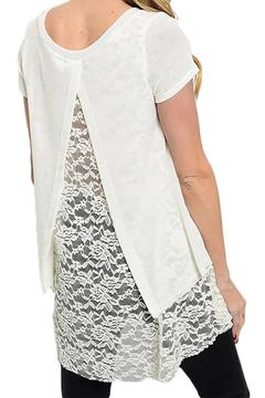 Inance Ivory Lace Top - Alternate List Image