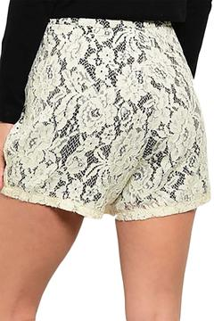 Inance Lace Crochet Shorts - Alternate List Image