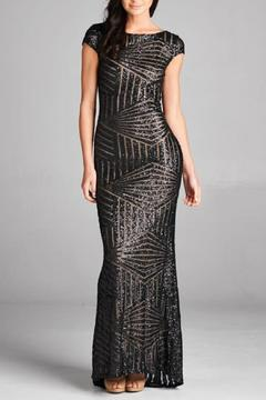 Inance Long Sequined Gown - Product List Image
