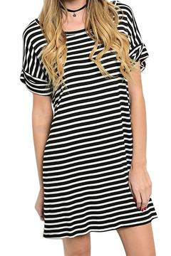 Inance Loose Fit Striped Dress - Product List Image