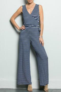Inance Navy Striped Jumpsuit - Product List Image