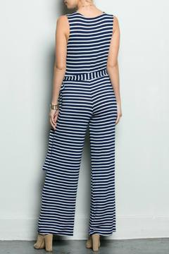 Inance Navy Striped Jumpsuit - Alternate List Image