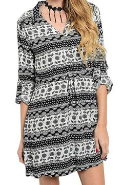 Inance Pattern Print Dress - Product List Image