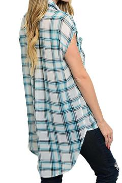 Inance Plaid Button Down Top - Alternate List Image