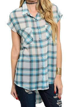 Inance Plaid Button Down Top - Product List Image