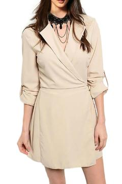 Inance Taupe Wrapped Romper - Product List Image
