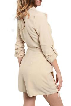 Inance Taupe Wrapped Romper - Alternate List Image
