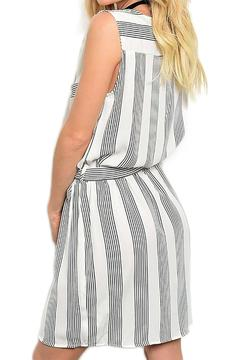 Inance V Neck Striped Dress - Alternate List Image