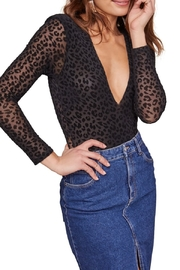ASTR the Label Inca Leopard Burnout Bodysuit - Product Mini Image