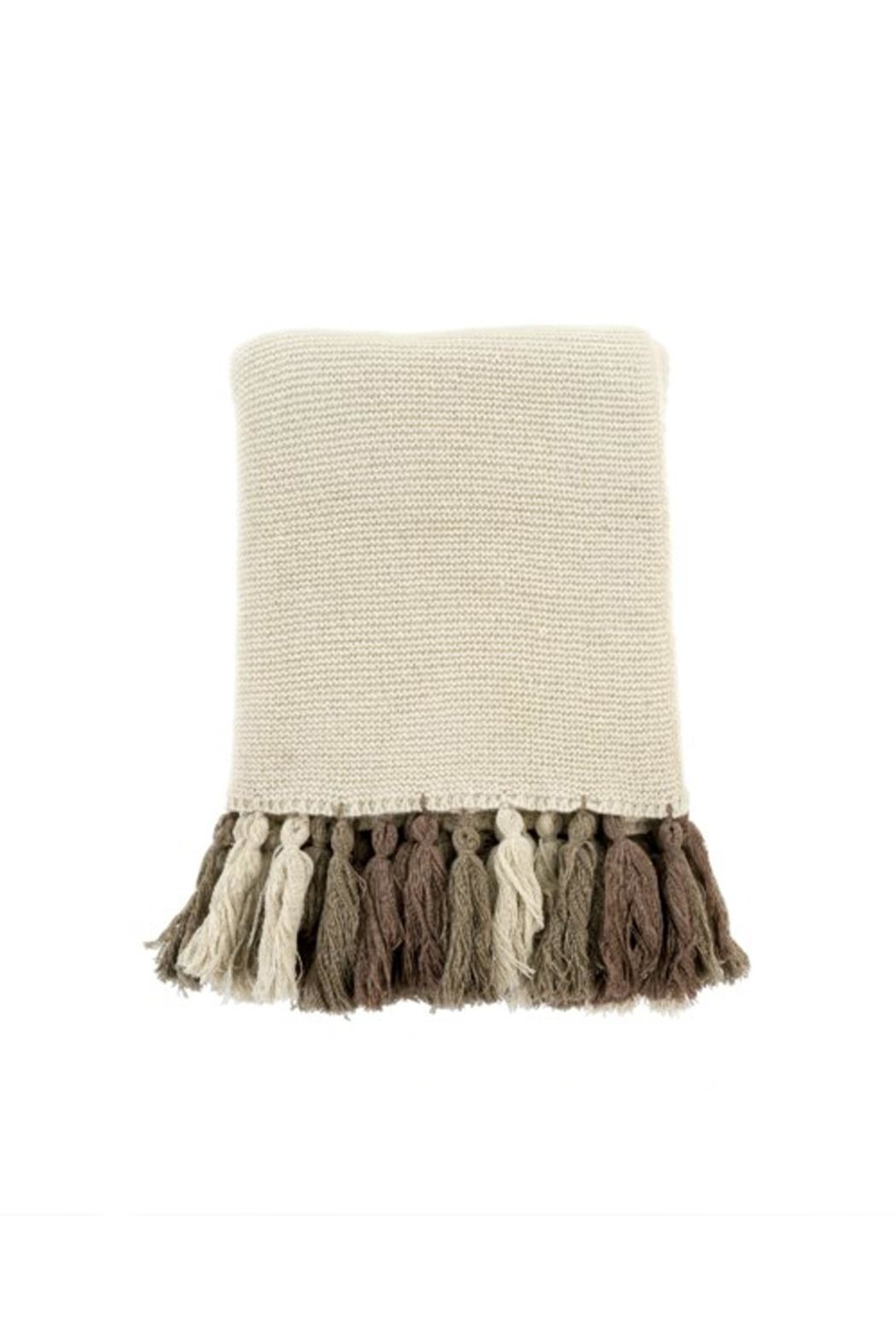 Indaba Chunky Tassel Throw - Front Cropped Image