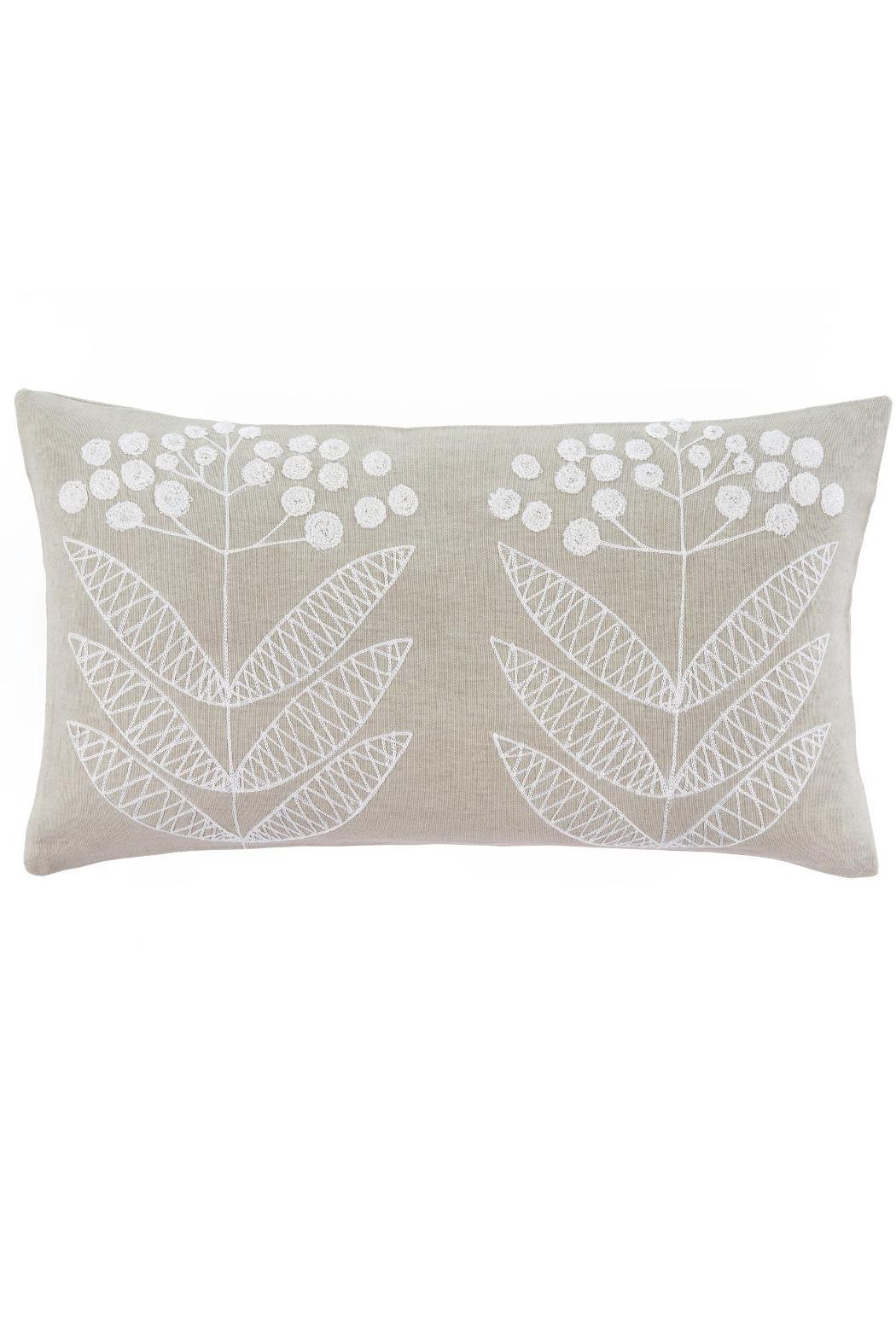 Indaba Embroidered Flower Pillow - Main Image