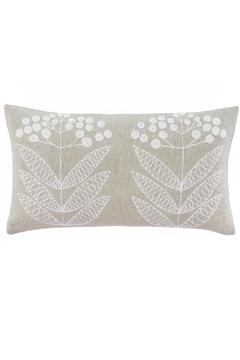 Shoptiques Product: Embroidered Flower Pillow