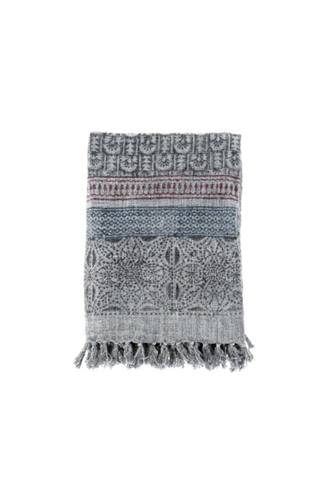 Indaba Fortuna Blockprint Throw - Main Image