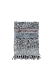 Indaba Fortuna Blockprint Throw - Front cropped