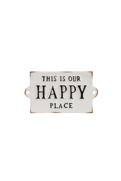 Indaba Happy Place Sign - Product List Image