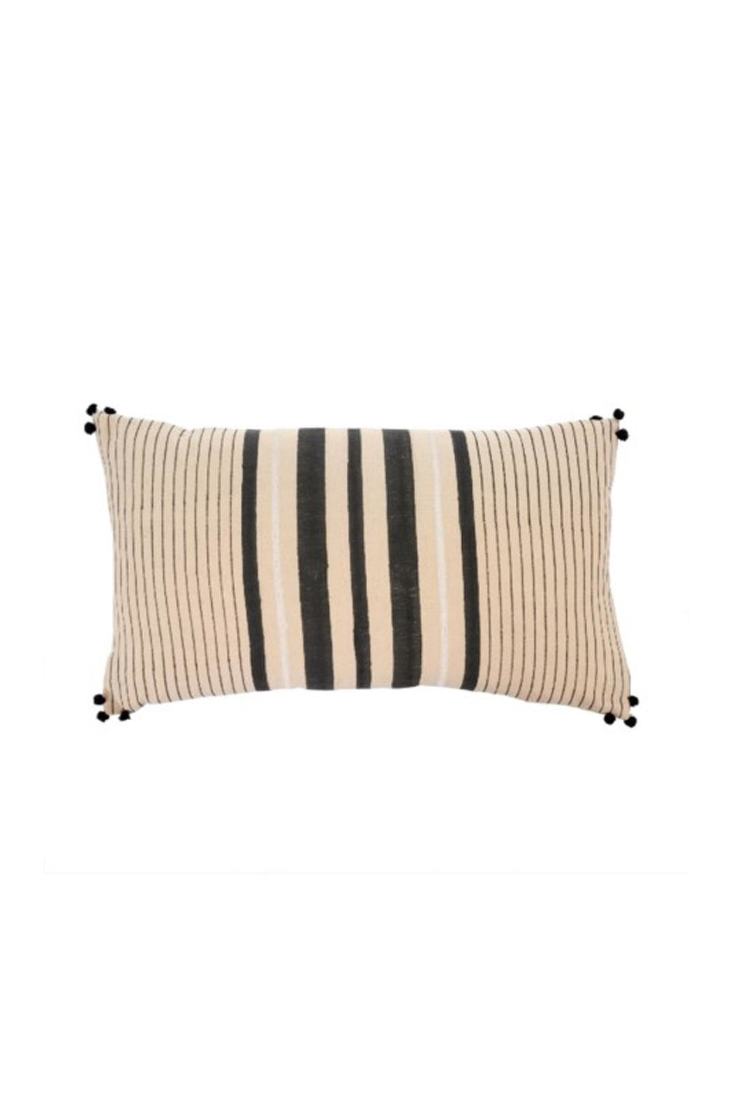 Indaba Striped Pom-Pom Cushion - Main Image