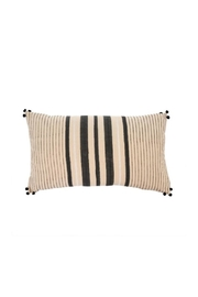 Indaba Striped Pom-Pom Cushion - Product Mini Image