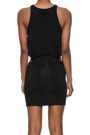 Indah Black Bow Dress - Back cropped