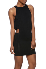 Indah Black Bow Dress - Front cropped