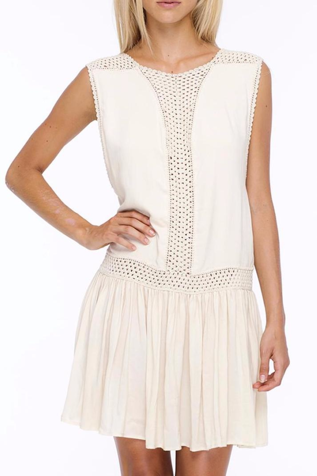 Indah Crochet Mini Dress - Front Cropped Image