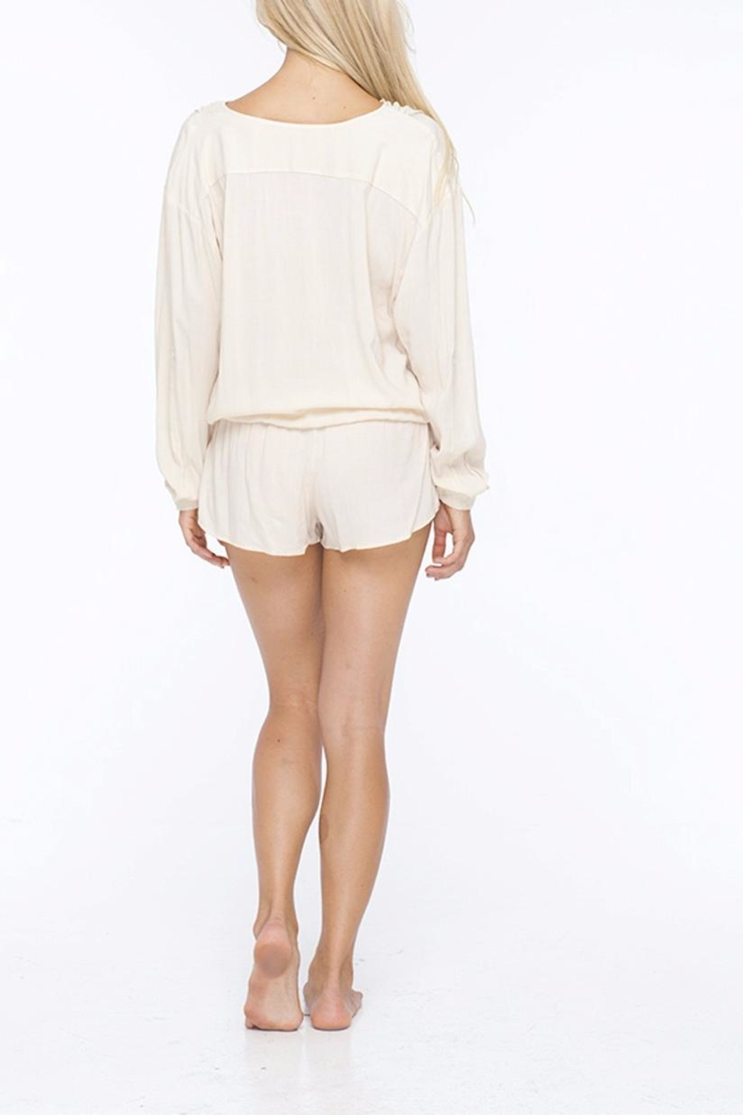 Indah Casual Everyday Romper - Back Cropped Image