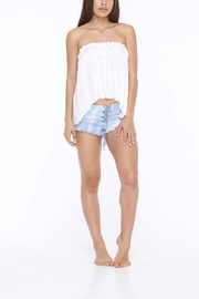 Indah Mary Strapless Shirt - Front cropped