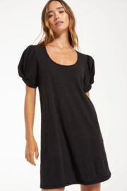 z supply Indi Slub Puff Sleeve Dress - Product Mini Image
