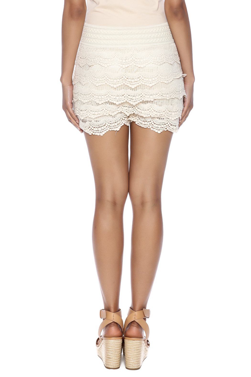 India Boutique Crochet Short - Back Cropped Image