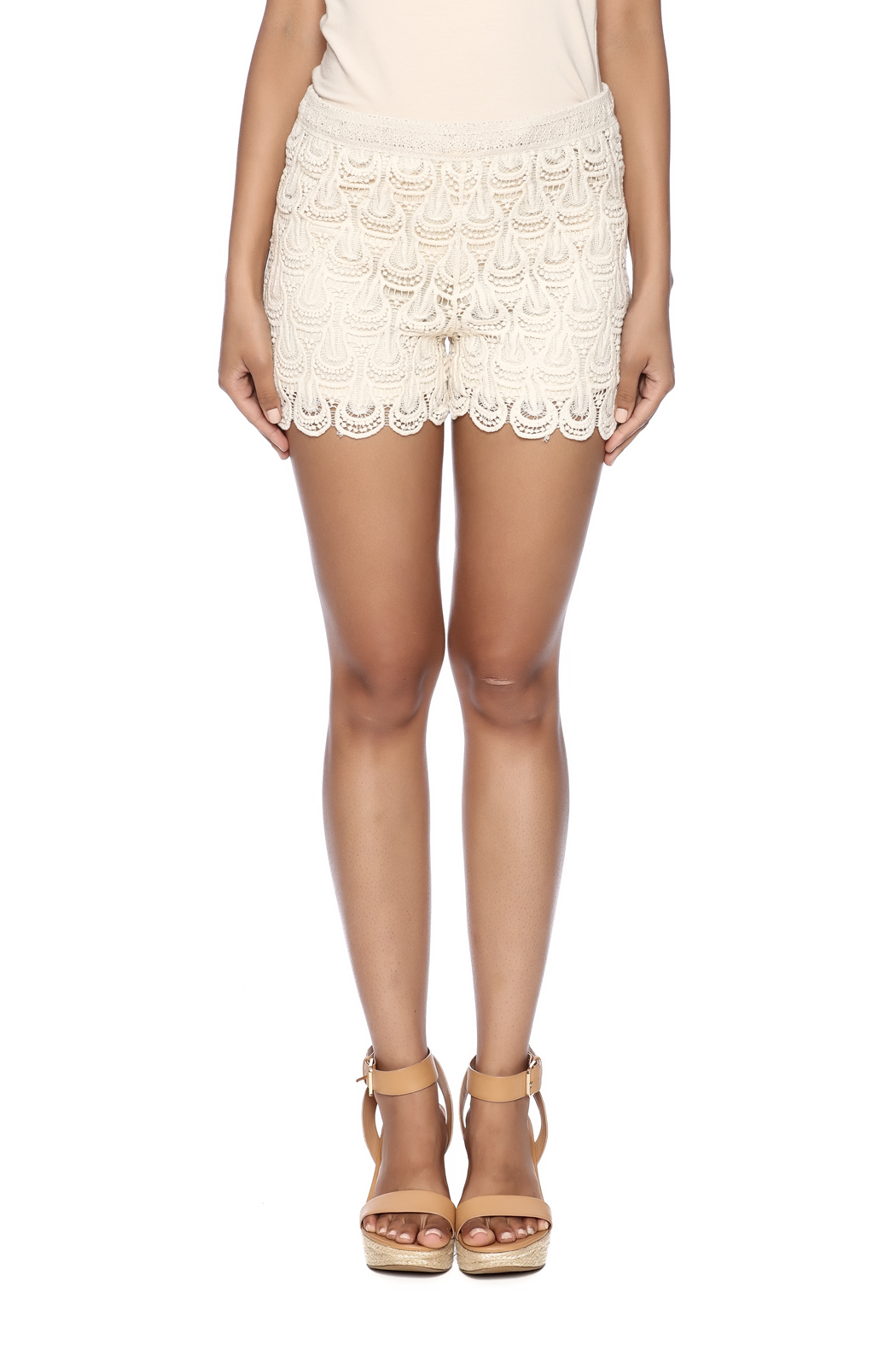 India Boutique Crochet Short - Side Cropped Image