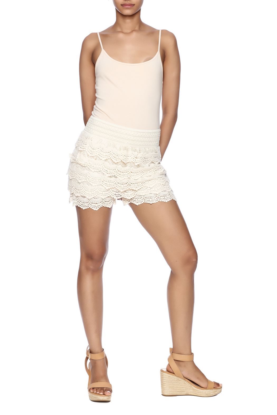 India Boutique Crochet Short - Front Full Image