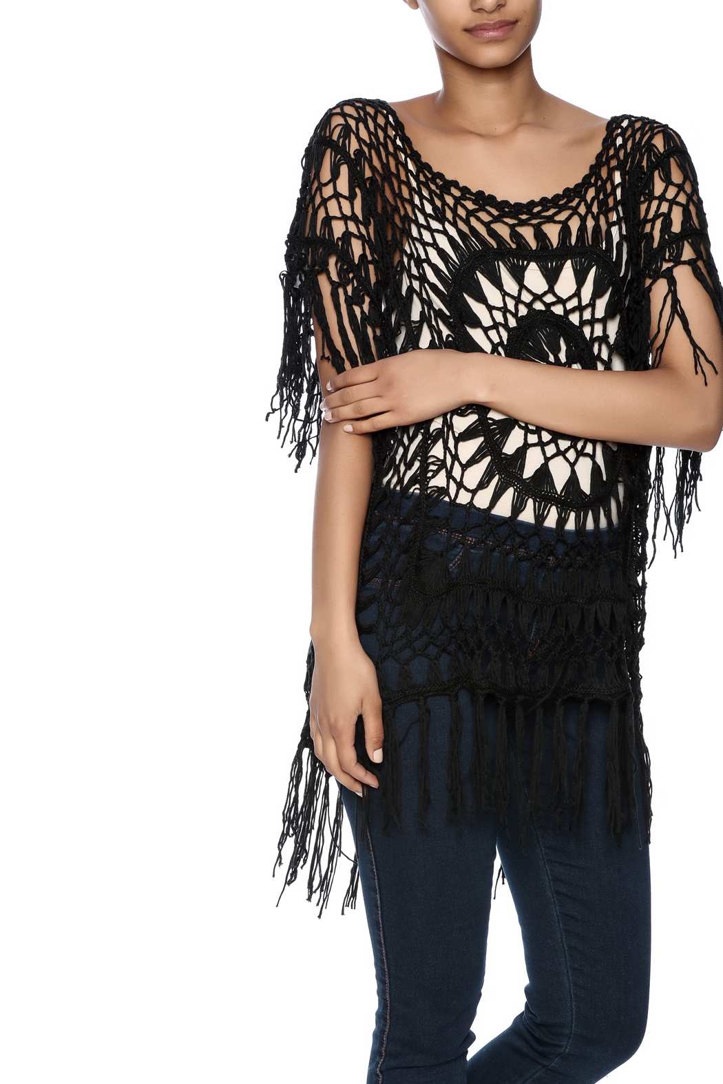 India Boutique Exquisite Crochet Top - Front Cropped Image